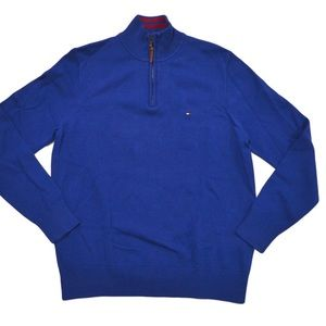 Tommy Hilfiger Mens Mock Neck 1/4 Zip Sweater (L)